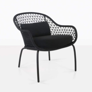 front angle view of libby chair