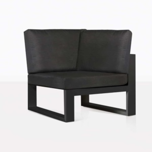 Mykonos Sectional Sofa Corner Chair Black