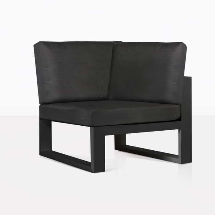 Mykonos Sectional Sofa Corner Chair Black