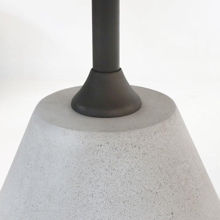 Cee Cee Concrete Dining Table Pedestal Closeup