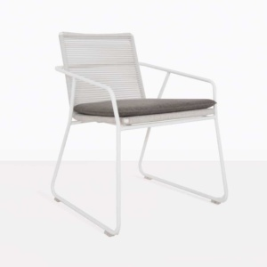 Pierre White Rope Outdoor Dining Chair