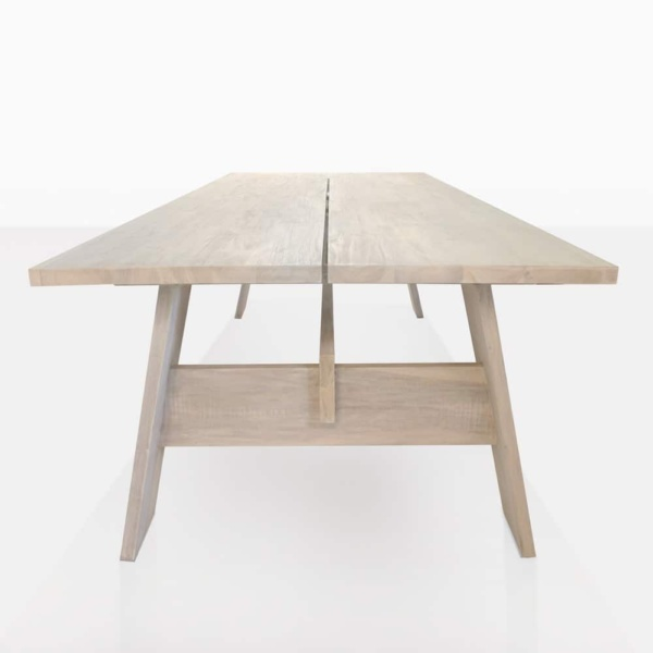 teak bradford table side
