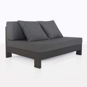 charcoal aluminium - outdoor sectional center
