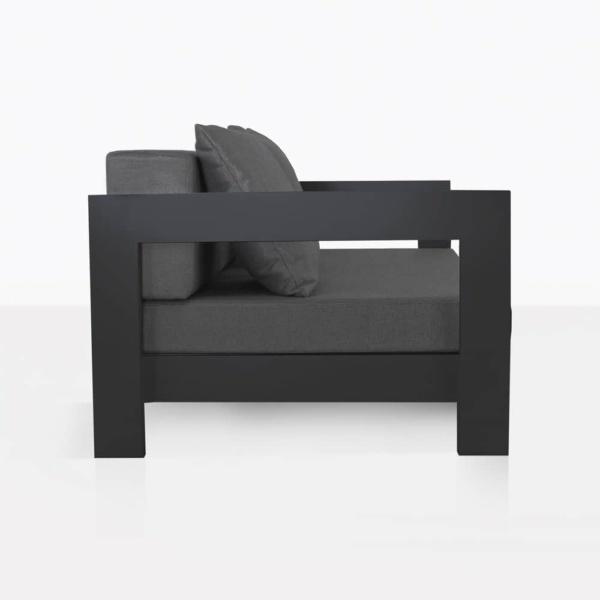 amalfi aluminium in black - side view relaxing chair