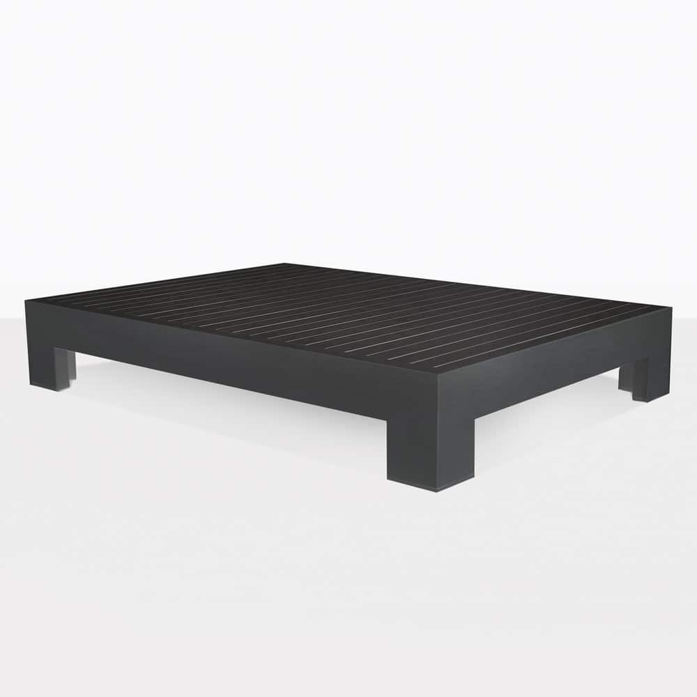 Amalfi Charcoal Black Aluminum Outdoor Coffee Table Design Warehouse Nz