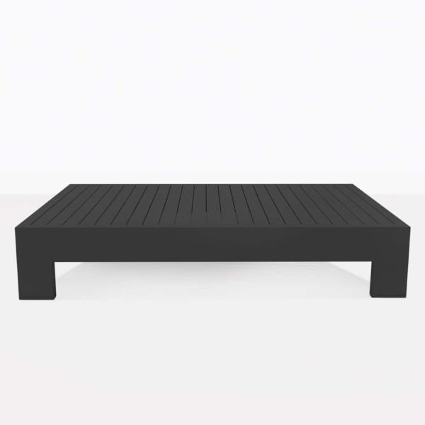 charcoal aluminium - coast coffee table