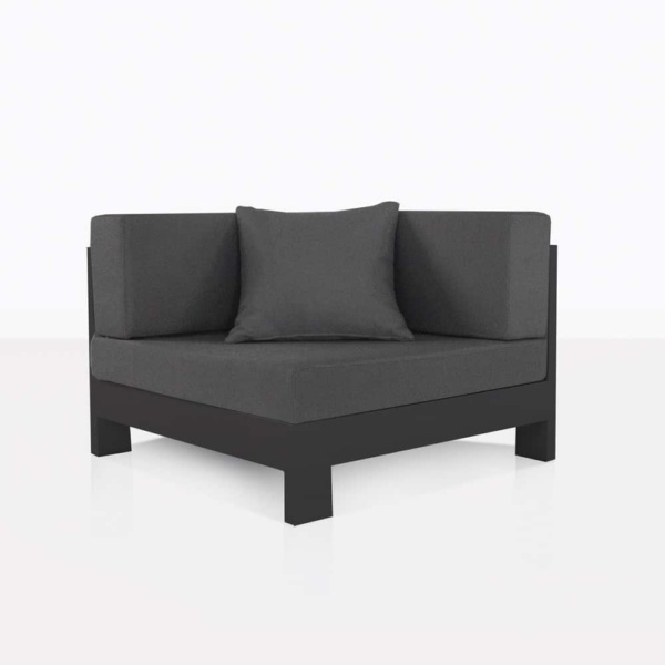 sectional corner charcoal aluminium