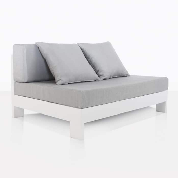 white aluminium sectional center chair