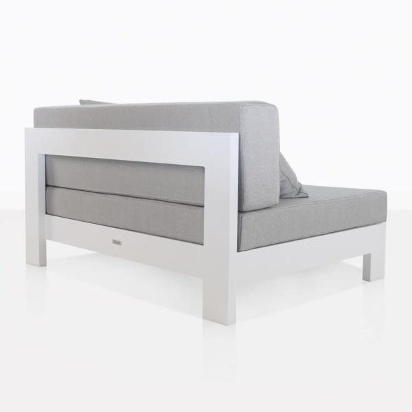 white aluminium amalfi - center back side
