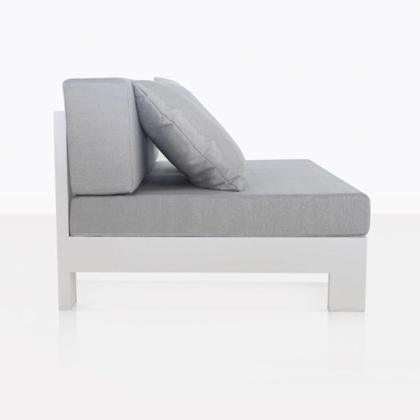 sectional center - white aluminium amalfi