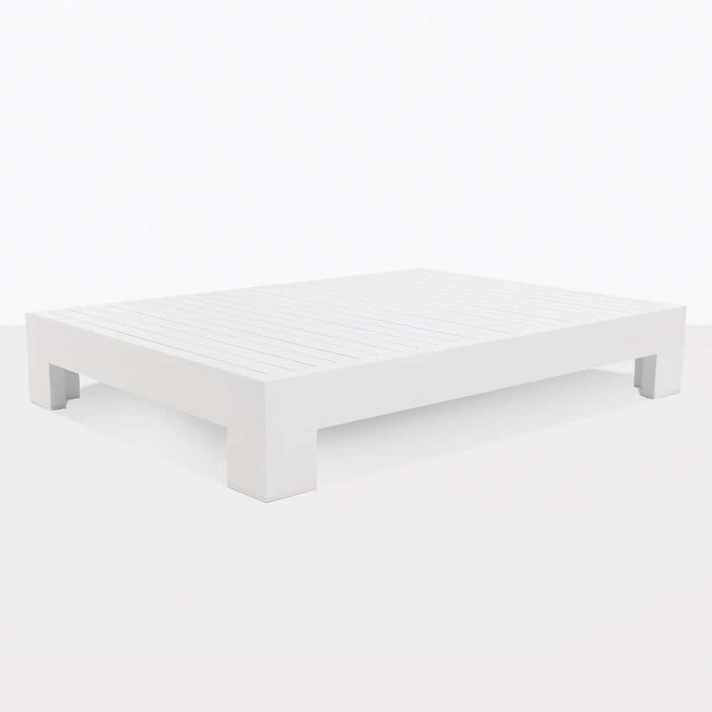 White Coffee Table Nz: Amalfi Aluminum Outdoor Coffee Table In White