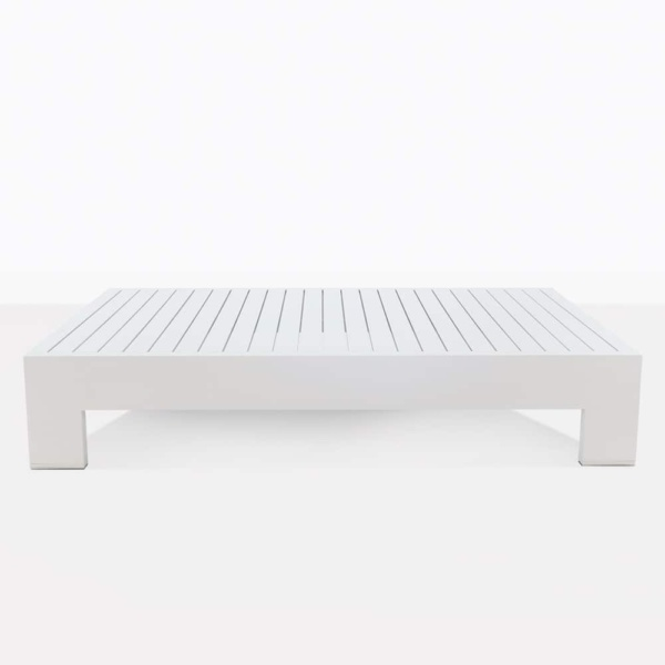 White aluminium coffee table