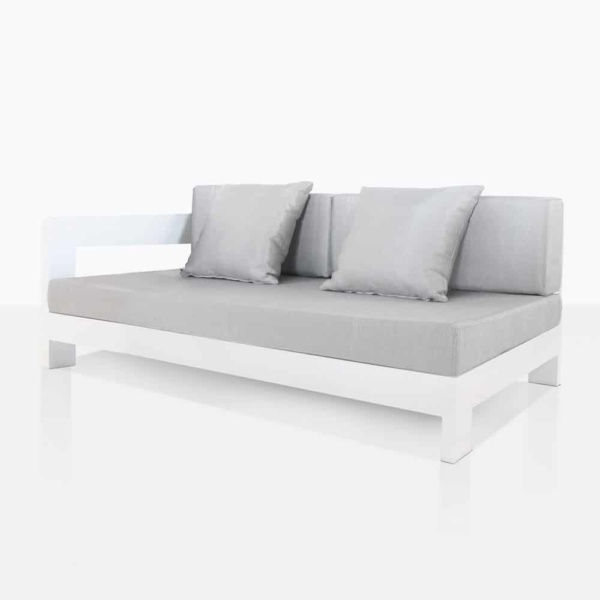Amalfi Aluminum right Arm Daybed With Cushions