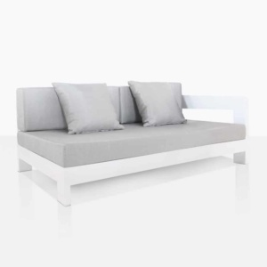 Amalfi Aluminum Left Arm Daybed With Cushions