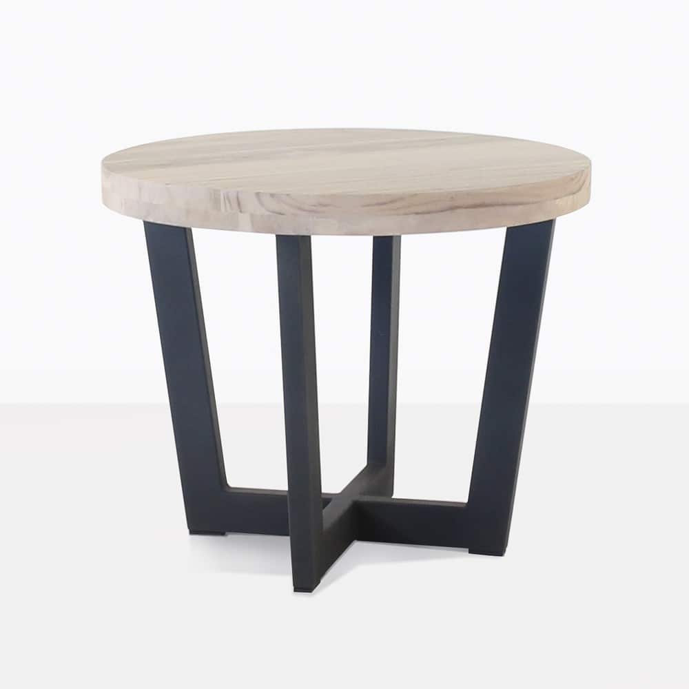 Jimmy teak outdoor side table low design warehouse nz for Teak side table outdoor