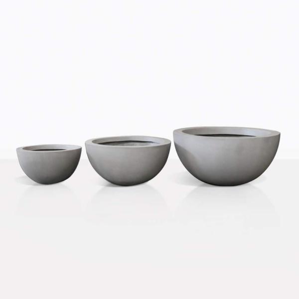 raw concrete linden pots