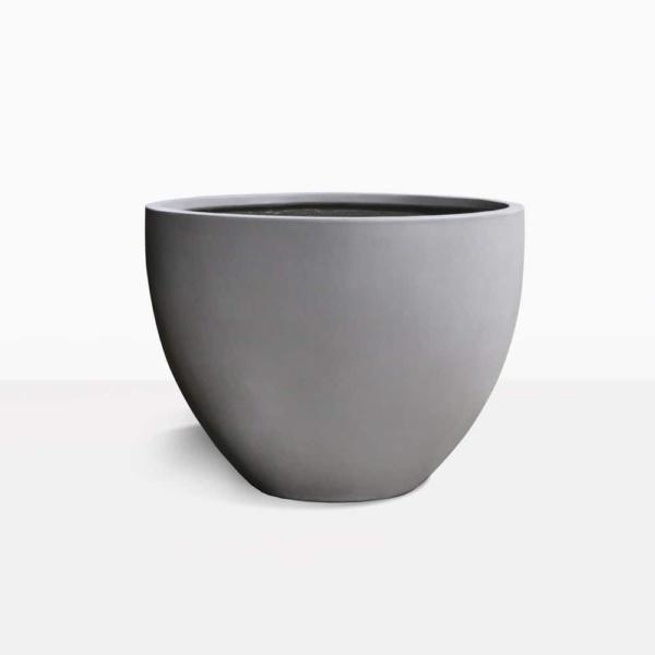 Single Livingstone raw concrete oval planter