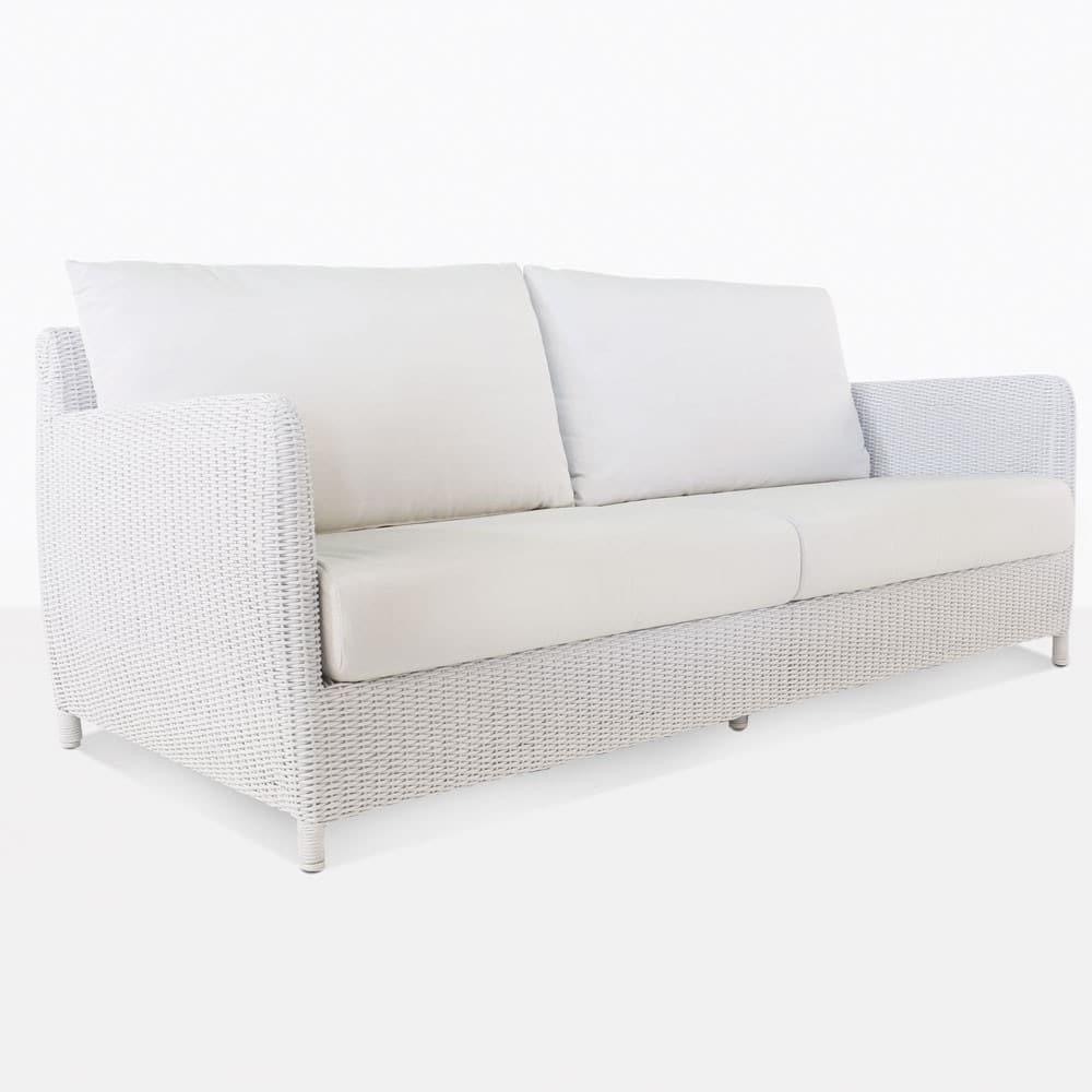 Valhalla Outdoor White Wicker Sofa Patio Couches Design Warehouse Nz