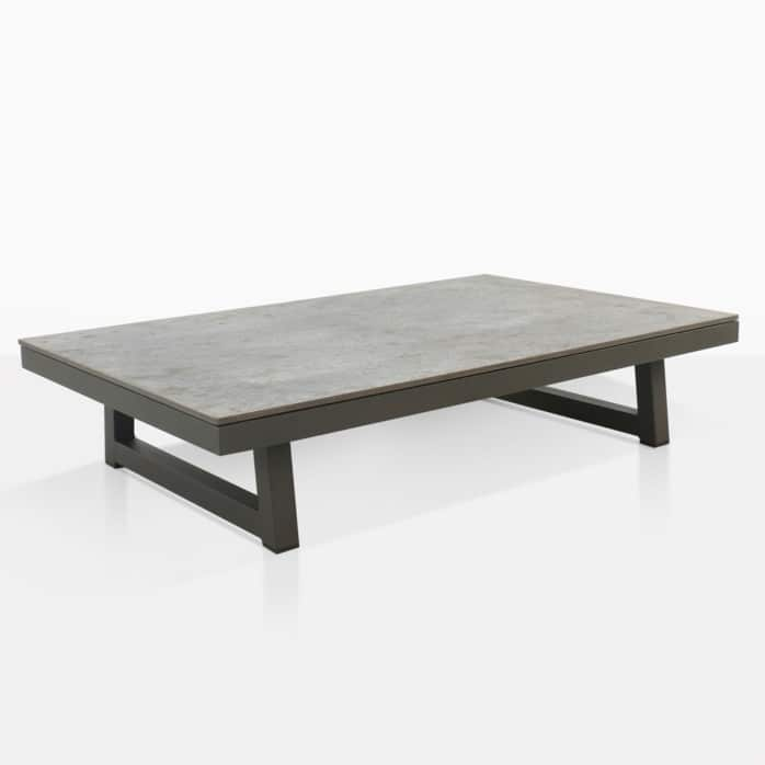 Aluminum Patio Coffee Table: Westside Aluminum Outdoor Coffee Table (Graphite)