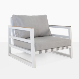 Westside Outdoor Lounge Chair in White