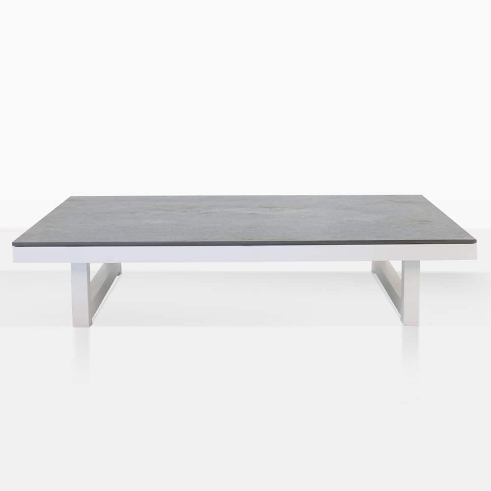 White Coffee Table Nz: Westside Aluminum White Outdoor Coffee Table