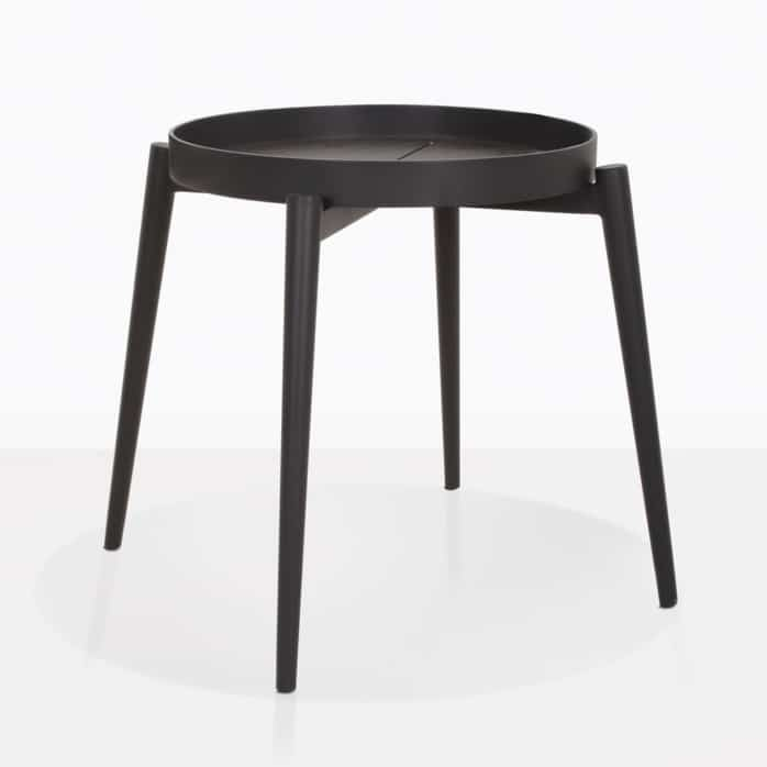 Moon Round Accent Table With Tray Top