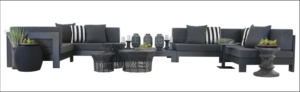 Amalfi Black Aluminium Outdoor Furniture Collection