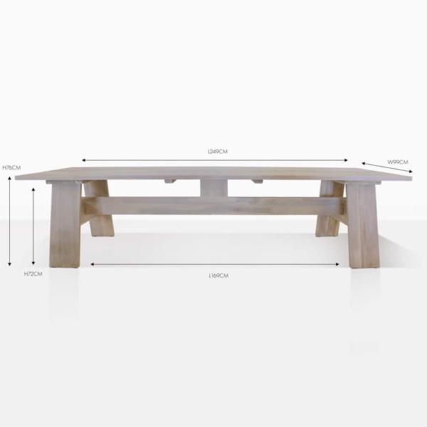 Bradford reclaimed teak dining table