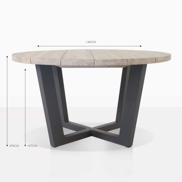 jimmy outdoor round teak outdoor dining table