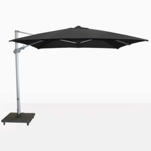 Mauritius Black Open Cantilever Umbrella