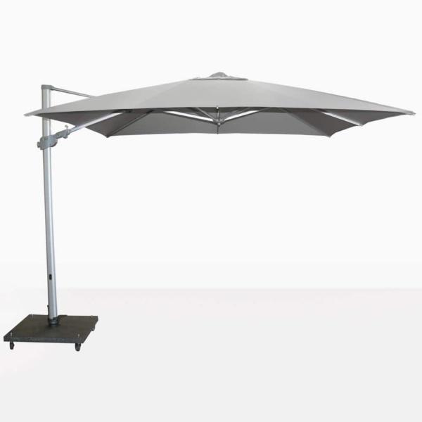 Mauritius Grey Cantilever Umbrella Opened