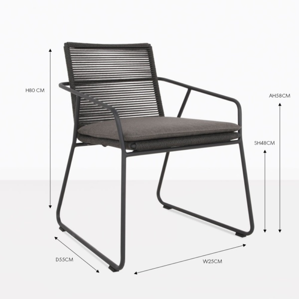 pierre charcoal dining chair