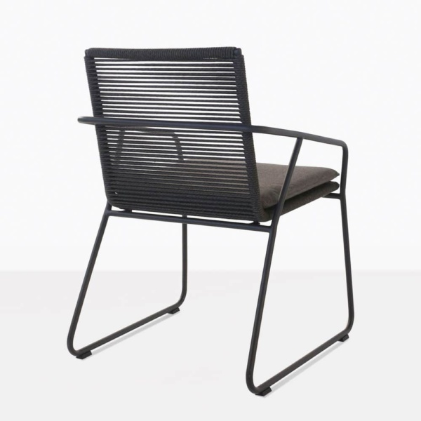 pierre woven outdoor rope dinning chair charcoal Sunbrella