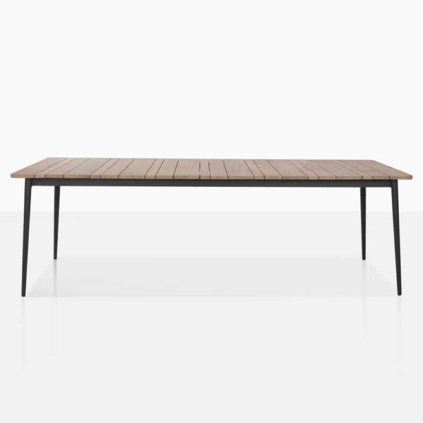 stella dining table straight teak