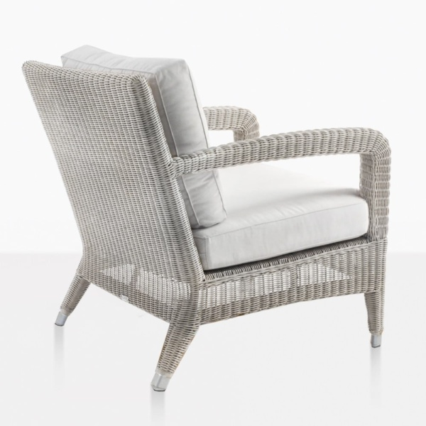 Aaron Wicker Relaxing Chair With Sunbrella Cushions
