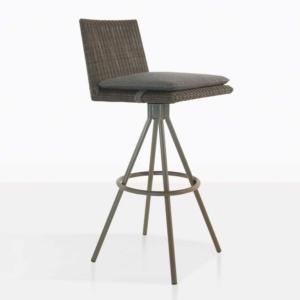 loop bar swivel stool in mud grey color