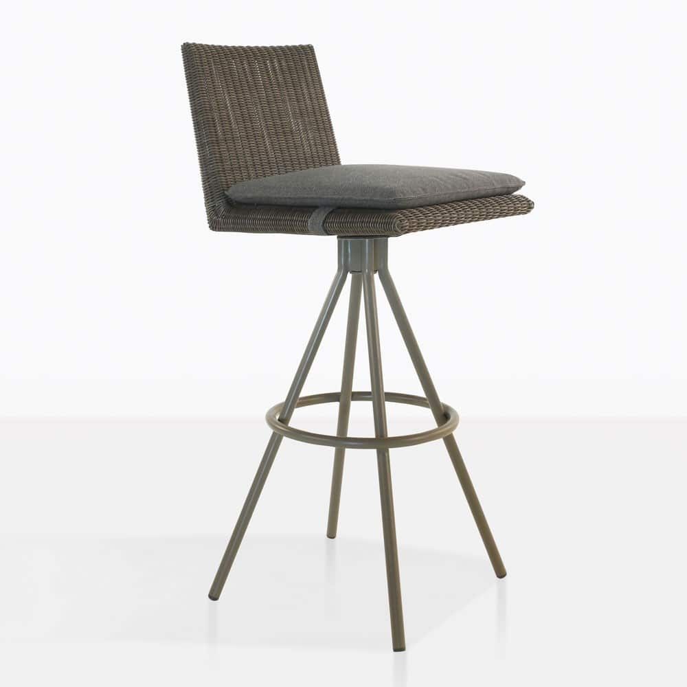 loop bar swivel stool in mud grey color
