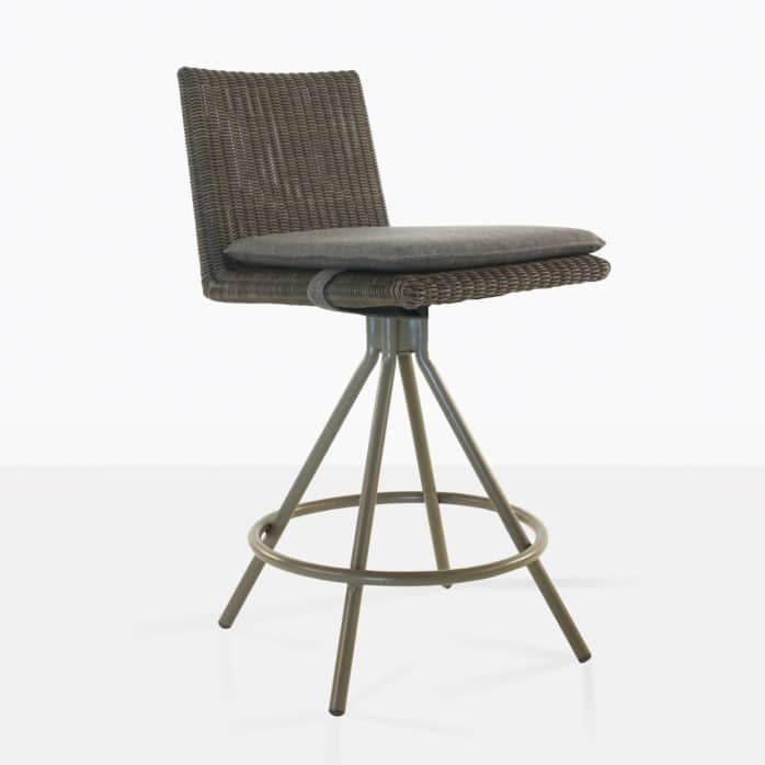 loop counter height stool in mud grey