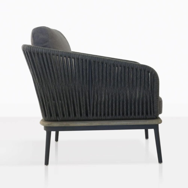 dark grey oasis chair