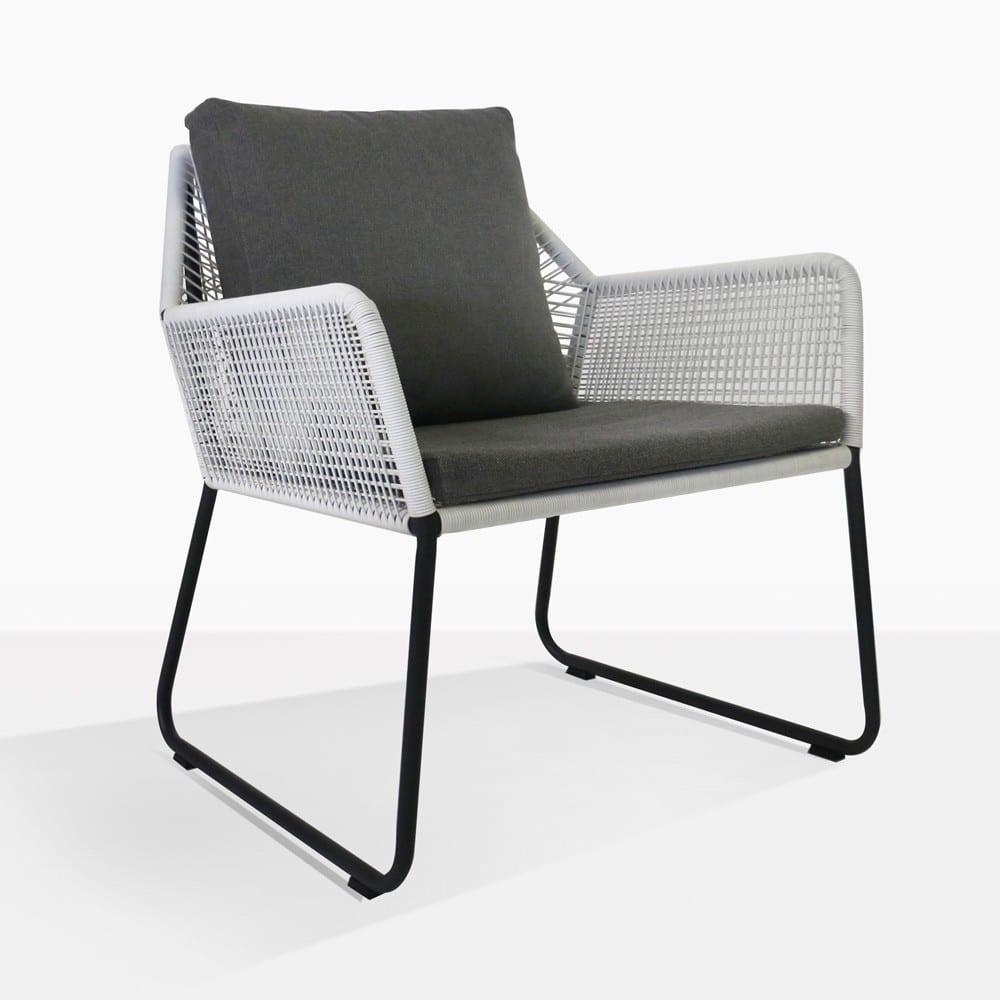 Puppy Outdoor Wicker Relaxing Chair Grey Design