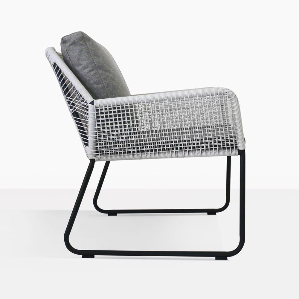 Puppy Wicker Lounge Chair Side