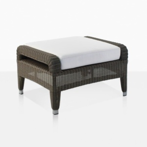 aaron outdoor wicker ottoman in java color