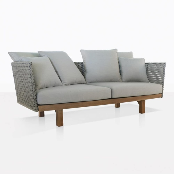 brazil rope and reclaimed teak outdoor sofa