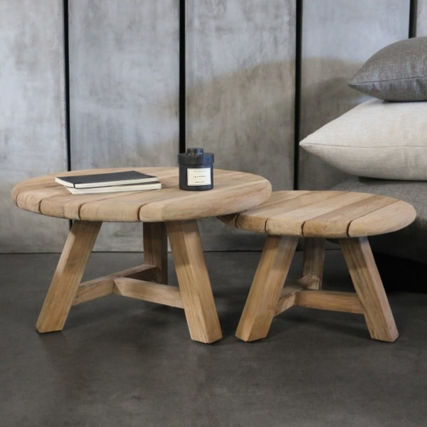 Oslo side tables teak wood