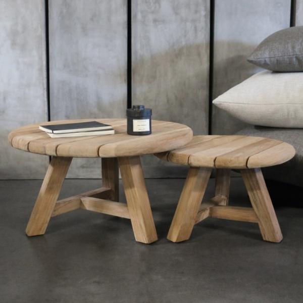 Oslo side tables teak wood