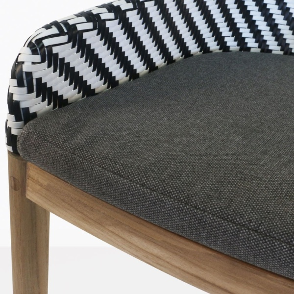 bugg outdoor dining chair closeup view