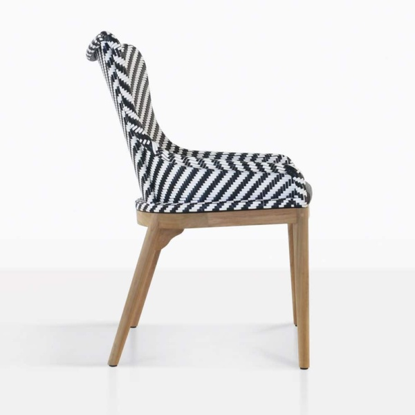 bugg outdoor dining chair side view