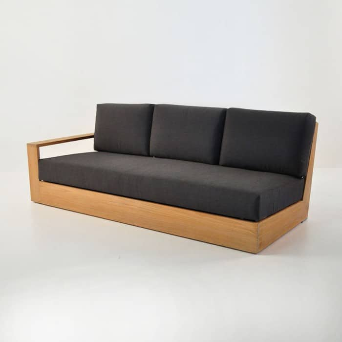 cabana 3 seater sofa one arm right front angle view