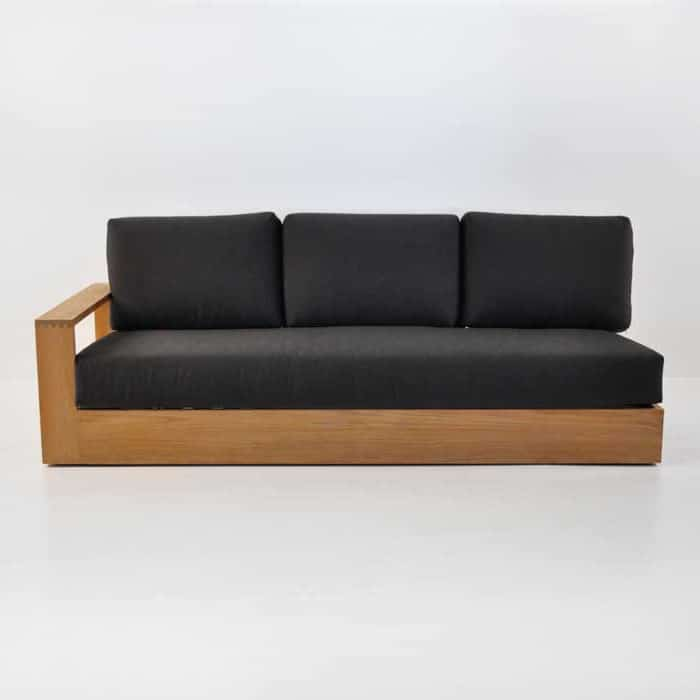 cabana 3 seater sofa one arm right front view