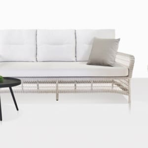 Hampton White Wicker Sofa And Lounge Chair